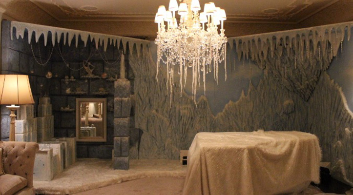 "Custom-designed Set Design for ""NARNIA"" ICE PALACE SET FOR DESI SANTIAGO"