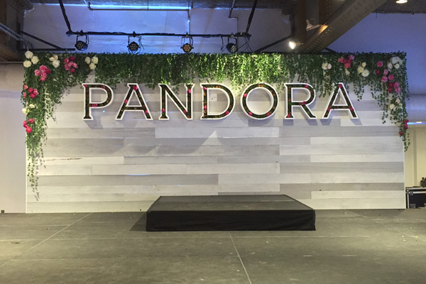 Custom-designed Set Design for Pandora